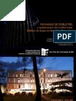 Control solar edificio de aulas fachada doble piel - Presentación