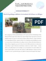 Etat de la politique militaire et sécuritaire de la France en Afrique
