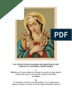Los Veinticuatro Dolores Más Principales Que Padeció La Santísima Virgen María