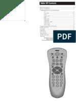 Codigos programacion control RCA