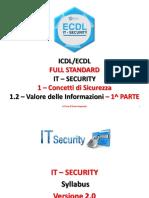 ICDL/ECDL FULL STANDARD - IT SECURITY - CONCETTI di SICUREZZA - VALORE delle INFORMAZIONI - PARTE 1_2A