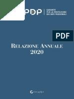 Garante privacy - Relazione annuale 2020