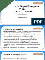 .Aula 72 e 73 - 9º Ano - Língua Portuguesa - Lucas Faria