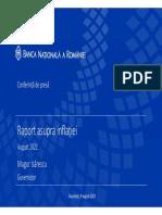Mugur Isărescu - Prezentare RaI Aug. 2021