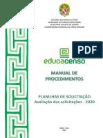 Manual de Procedimentos - Planilhas de Solicitação - Versão Final