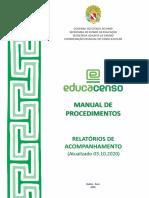 Manual de Procedimentos - Relatórios de Acompanhamento - 2020 - 03 Out 2020