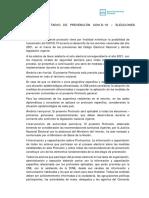 Protocolo Sanitario de Prevención Covid-19 – Elecciones Nacionales 2021