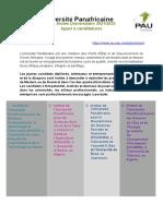 PAU Scholarship Call French