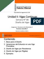 UNIDAD II SEMANA 8 - DISENO DE VIGAS