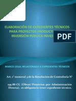 Elaboración de Expedientes Técnicos Para Proyectos Productivos 02