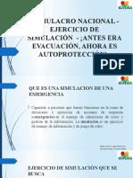 PRESENTACION DE SIMULACROS SIMULADOS 2020