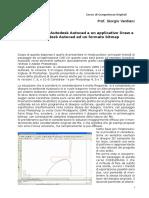 Il passaggio da Autodesk Autocad a un applicativo Draw e da Autodesk Autocad ad un formato bitmap