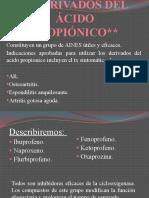 DERIVADOS DEL ÁCIDO PROPIÓNICO