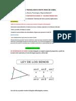 GUÍA Y TALLER N°2 DE MATEMÁTICAS 11°- SEGUNDOPERIODO-2021. LEY DEL SENO Y COSENO