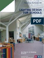 building bulletin 90 lighting design for schools