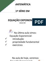 Função exponencial AULA 02
