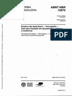 NBR 15572 Ensaios Nao Destrutivos Termografia