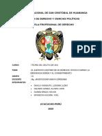 GRUPO 10 EL Ejercicio Legítimo de Un Derecho, Oficio Cargo...