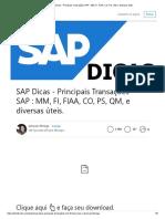 SAP Dicas - Principais Transações SAP _ MM, FI, FIAA, CO, PS, QM, e Diversas Úteis