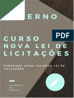 NOVA LEI DE LICITAÇÕES - PANORAMA GERAL (AULA 01) (1)