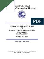 2009.07.14_Audit_Report_Detroit_Lions_Alt_Education