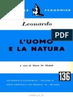 Leonardo Da Vinci, A Cura Di Mario de Micheli - L'Uomo e La Natura-Universale Economica (1952)