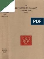 Natalino Sapegno - La Letteratura Italiana. Storia e Testi. Storia Letteraria Del Trecento. Vol. 76-Ricciardi (1958)