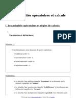 Priorites Operatoires Et Calculs Cours de Maths en 5eme