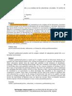 La práctica profesional docente y su compleja red de subsistemas vinculados.