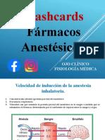 Flashcards Anestesicos