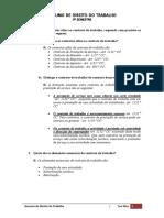 Resumo de Direito Do Trabalho II Semestre