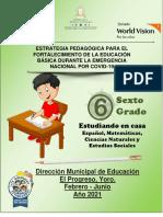 Cuadernillo Pedagogico Sexto Grado 2021