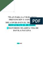 2.4 PLAN DE VIGILANCIA, PREVENCION Y CONTROL COVID-19 EN EL T - REST - EL BUNKER