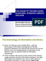 The usage of technologies in natural sciences library,  VNU-HCM