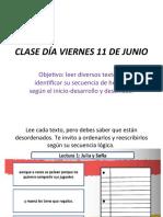 CLASE DÍA VIERNES 11 DE JUNIO