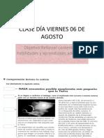 CLASE DÍA VIERNES 06 DE AGOSTO