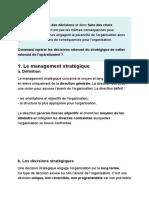 Management stratégique et opérationnel