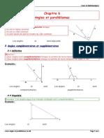 Cours Angles Et Parallelismes 5e