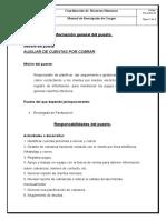 MANUAL DE DESCRIPCIÓN DE CARGO AUXILIAR DE CUENTAS POR COBRAR