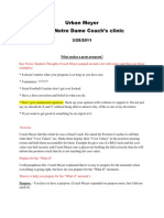 Urban Meyer ND Clinic 2011 notes