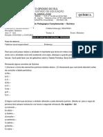 2ºA - QUIMICA - MARÇO- EM - MATUTINO-APC