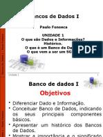 Unidade 1 - Apresentação - Dados e Informações