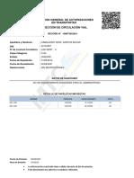 RECORD DE CONDUCTOR