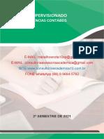 Estágio Supervisionado Curso de Ciências Contábeis 8º semestre - Industrial faz tudo LTDA e Empresa Comercial Vende Tudo LTDA. (66) 9.9694-5762.