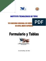 Formula Rio y Tablas