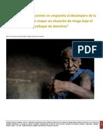 Estudio en Busqueda de Soluciones Al Desamparo de La Vejez en La Rep. Dom. FUNDAMA