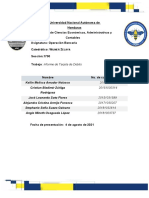 informe operacion bancaria
