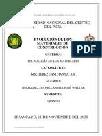 EVOLUCION DE LOS MATERIALES- DELGADILLO AVELLANEDA