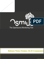 Release Notes Osmius 10.10 (ES) Community