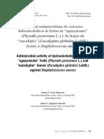 Actividad Antimicrobiana de Extractos Hidoralcóholicos